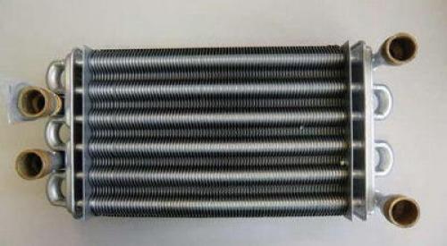 616170 Битермический теплообменник  с кольцевыми прокладками для котлов Baxi Main Four 24, 240F, Main Digit 240 i, 240Fi, Main 18 Fi, 24i, 24Fi